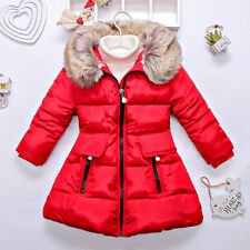 2016 New Cotton Padded Jacket Kids Winter Hooded Coat 2-12T Thick Outerwear Tops