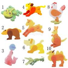 Animal Shaped Puzzle Jigsaw Game Toy Children Kids DIY Assembling Wooden Toys
