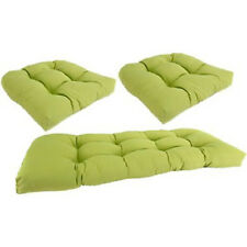 """X-LARGE DELUXE Tufted Cushion Set for Wicker Furniture, Choose Solids 46"""" X 21"""""""