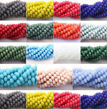 Wholesale New Rondelle Faceted Crystal Glass Loose Spacer Beads 4/6/8/10mm