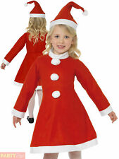 Girls Miss Santa Costume Childs Christmas Fancy Dress Kids Value Xmas Outfit