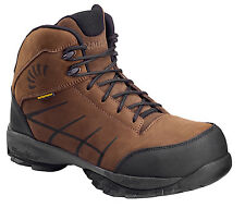 Nautilus Mens Composite Toe SD WP Hiker W Brown Nubuck Leather Boots