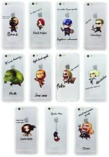 Case/Cover Apple iPhone 5 5s SE + Screen Protector / Silicone Comic Book Heroes
