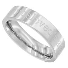 Surgical Steel 5mm Wedding Band Ring I AM MY BELOVEDS AND MY BELOVED IS MINE