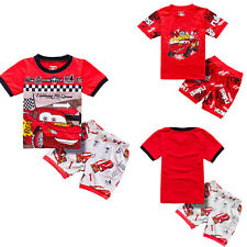 Cars Pajamas Sleepwear 2pc Short Set Toddler Boys McQueen Piston Cup Series NWT