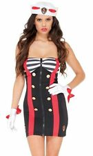 4 pc Sailor Chic Costume Set FORPLAY 559202 Sexy Adult Cosplay All Sizes NEW USA