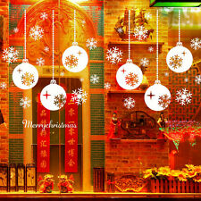 White Merry Christmas Ball Snowflake Bell Window Door Wall Sticker Home Decor
