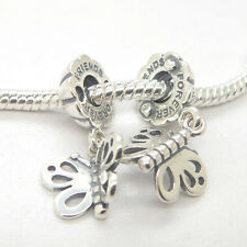 1 Pair New Authentic Sterling Silver Best friends forever Dangle Charm 790531