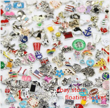 wholesale Mix floating charms living memory glass locket charms free shipping