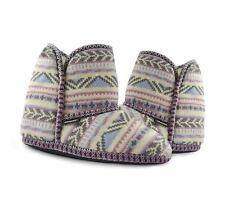 MUK LUKs Women's Shoes Kint Casual Ankle Boots SLIPPER BOOT in FUZZY FAIRISLE