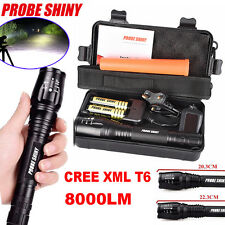 ZOOMABLE 8000LM 5-Mode CREE XML T6 LED Flashlight 18650&Charger Torch Lamp