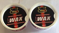 2xDEEP SHINE WATER RESISTANT AUTO SOFT CAR VAN WAX ULTRA GLOSS UV PROTECTION NEW