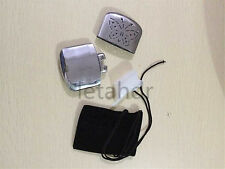 Portable Pocket Hand Warmer Silver Indoor And Outdoor Hunt Handy Warmer Heater