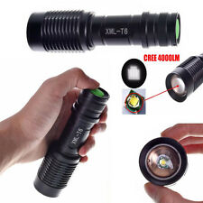 5 Modes 4000LM Zoomable CREE XML T6 LED Police Flashlight Lamp Torch Фонарик Hot