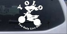 YOLO Only Live Once Dirt Bike Trick Car Truck Window Decal Sticker 6X5.3
