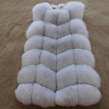 Warm Faux Fox Fur Vest Women New Gilet Ladies Long Jacket Coats Winter Outwear