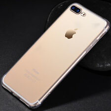 For iPhone 7/7 Plus Clear TPU Ultra Thin Slim Silicone Soft Back Case Skin Cover