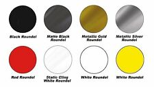 MG 6716 Series ~ Blank Racing Number Roundels, 16 in. Diameter (7 Colors)