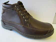 Mens Hush Puppies Brown Leather Lace Up Boots 121600990