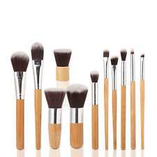 New Fine 11pcs Antibacterial Fiber Bamboo Handle Concealer Brush Makeup Brush AU