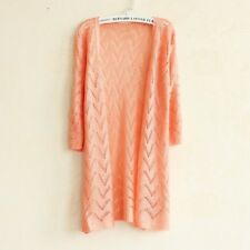 Women Knitted Sweater Cardigan Korean Style Knitting Lace Crochet Long Cardigan