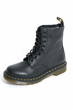 New DR MARTENS Womens Pascal 8 Eye Boot Black Black Boots