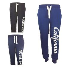 New Mens High Fleece Joggers, Tracksuit Bottoms, Track Sweat Jogging Pants