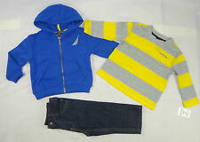 Nautica Baby boys set, 3-Piece Hoodie, Tee & Pants Set - 3/6,6/9,12,18,24 months