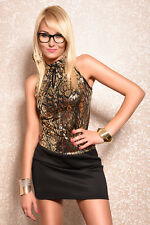 Evening Dress gold black NEW YEAR'S EVE Gala SPECIAL ITEM STOCK CLEARANCE XS S