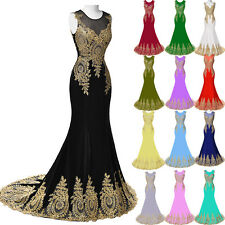 Long Evening Prom Dress Ball Gown Formal Bridesmaid Party Cocktail Wedding Dress
