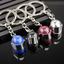 1Pc 3D Motorcycle Bicycle Helmet Key Chain Ring Keychain Keyring Key Fob Gift