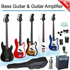 Electric Bass Guitar Set with Amp Picks Bag Tuner Tool Strap