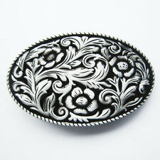 Belt Buckle Western Cowgirl Flower Belt Buckle Gurtelschnalle Boucle de ceinture