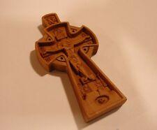 Neck Cross Wooden Hand Carved Crucifix with *JESUS CHRIST* #16