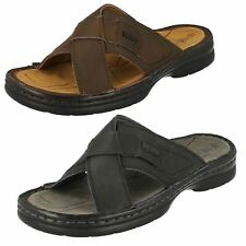 Mens Northwest Leather Slip On Sandals UK Sizes 7-11 Sahara
