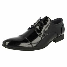 Mens Malvern Black Patent Formal Lace Up Shoes UK Sizes 7-11 A2135
