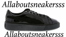 Puma Basket Platform Patent Black-Black-Black - Women Shoes 363558 03