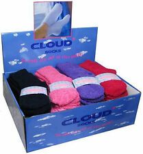 Ladies Soft Fluffy Lounge Cosy Bed Socks Shoe Size 4-6