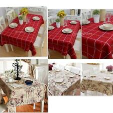 Vintage Table Cloth Square/Rectangular Table Mat Floral/Plaid Table Cover Deco