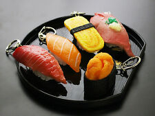 SUSHI Key ring / Japanese Sushi shaped key chain / Fake Food