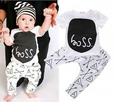 Newborn Baby Boy Summer 2-piece Outfits Print T-shirt And Pants Boy Clothes Sets