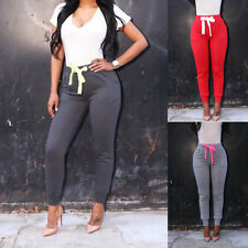 Sexy Womens Sports Stretch Skinny High Waist Pants Casual Slim Pencil Trousers