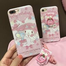 Cute My Melody Soft Case Cover for iPhone 6/6S/7 Plus & Ring Holder Stand& Strap