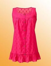 New Julipa Ladies Sleevless Cotton Dobby Blouse Size 10 UK Raspberry
