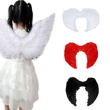 Kids Nativity Angel Feather Wings Childs Boys Girls Fancy Dress Up Costume Party