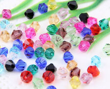 Wholesale Faceted Acrylic Plastic DIY Lucite Bicone Spacer Beads 4mm 6mm 8mm