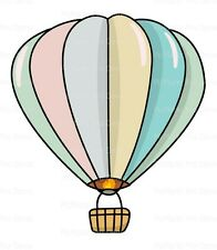 Pastel Hot Air Balloon ~ Frosting Sheet Cake Topper ~ Edible ~ D20109