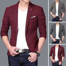 Men's Casual Slim Fit One Button Suit Blazer Business Coats Jacket Formal Tops