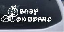 Baby On Board (Girl) Car or Truck Window Laptop Decal Sticker 17.2X6