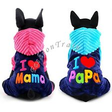 Pet Dog Puppy Warm Sweater Hoodie Coat for Small Medium Dog Soft Fleece Clothing